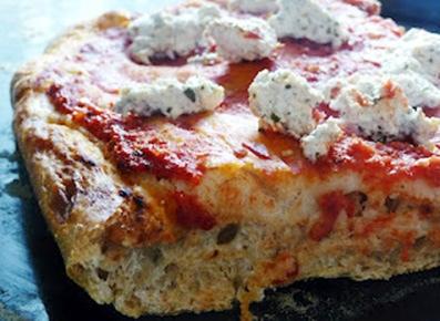 Pizza vegan con pasta madre